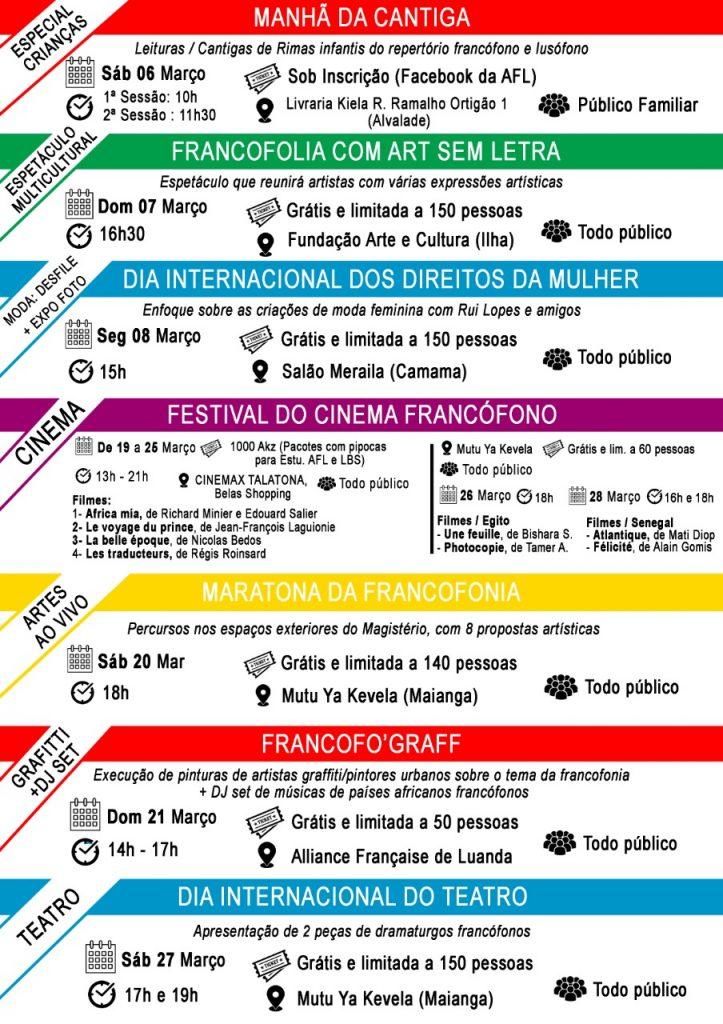 PROGRAMA ALUSIVO A CELEBRAÇÃO DO MÊS DA FRANCOFONIA 2021
